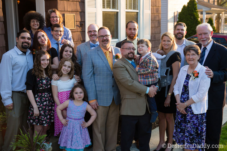 gay wedding - big family photo