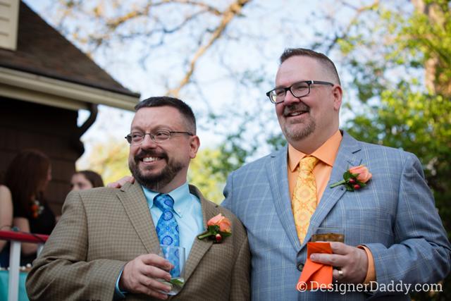 gay wedding - daddy and papa