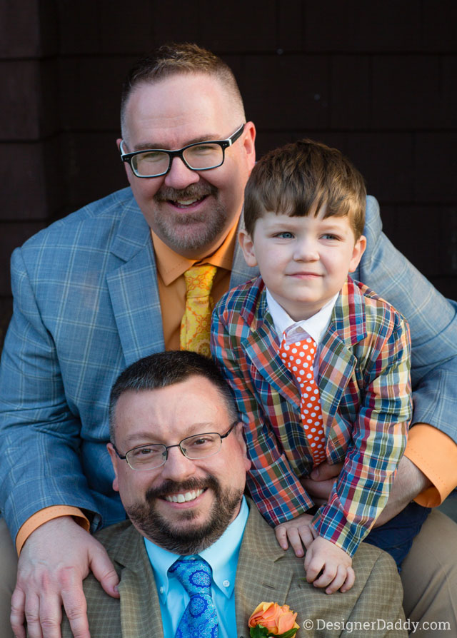 gay wedding - daddy papa and jon