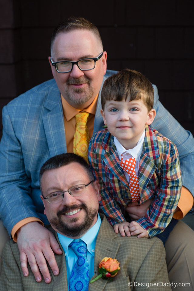 gay wedding - daddy, papa, jon