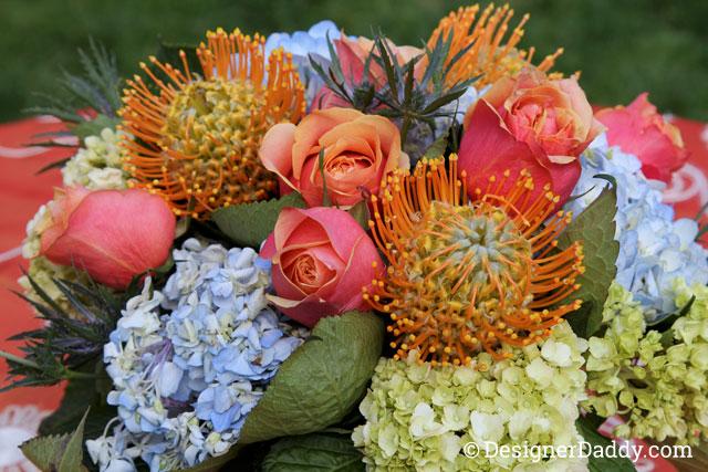gay wedding - flowers