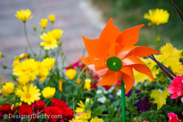 gay wedding - pinwheel