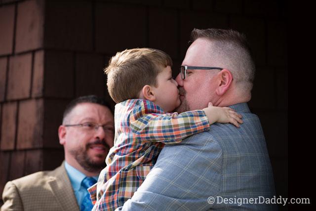 gay wedding - smooch