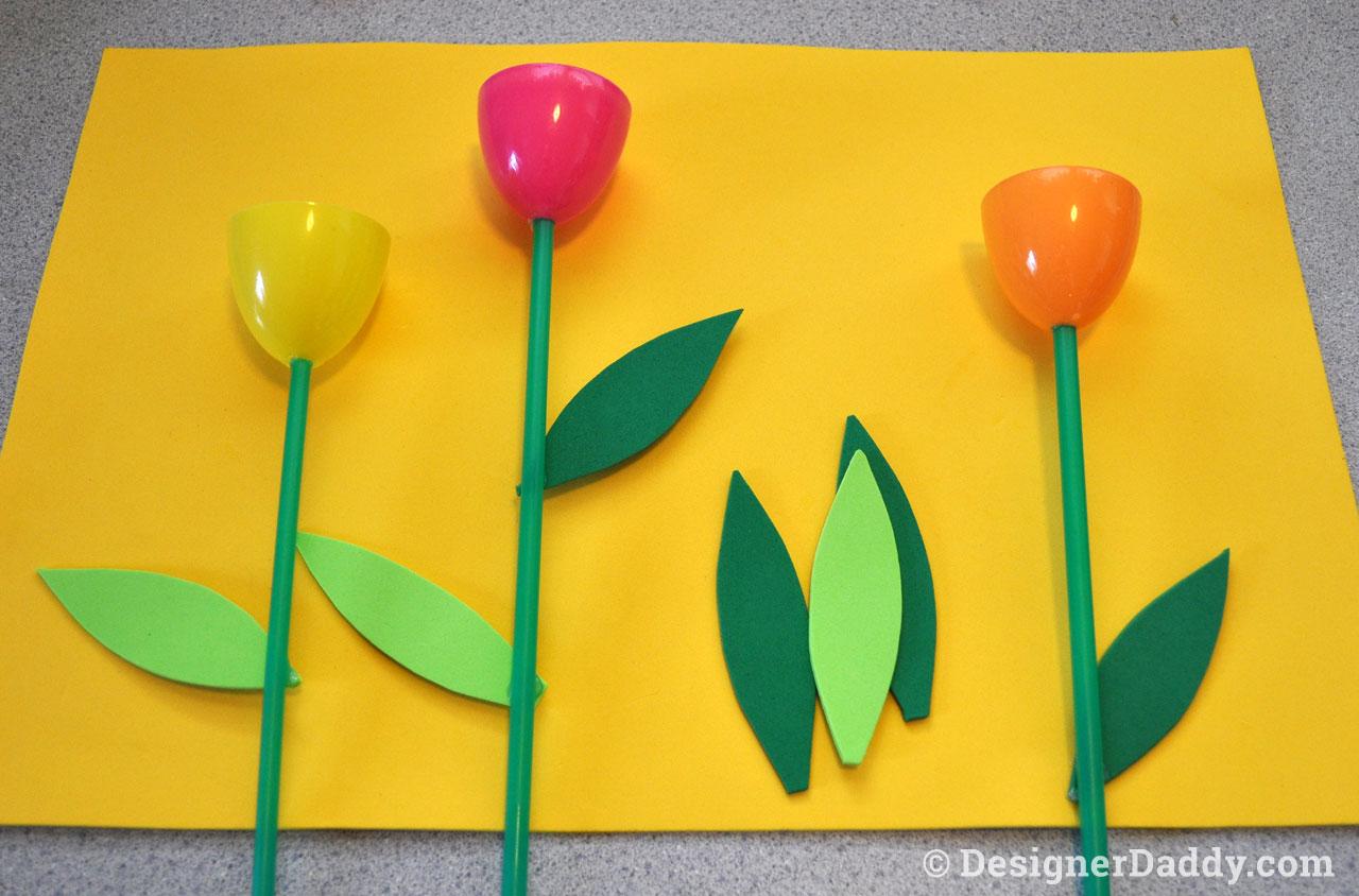Mother's Day Crafts: Tulip Garden 3
