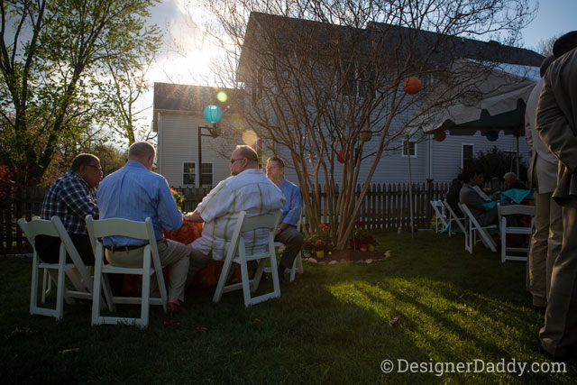 gay wedding - backyard party