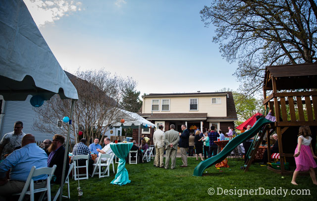 gay wedding - backyard