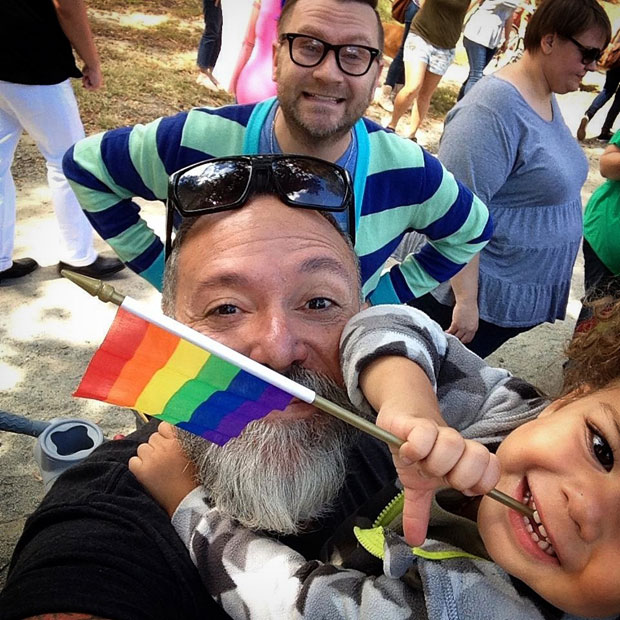 Father's Day - Gay Dads - Rainbow