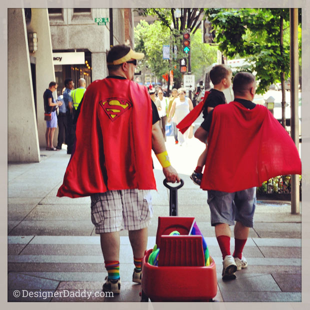 Father's Day - Gay Dads - Superhero