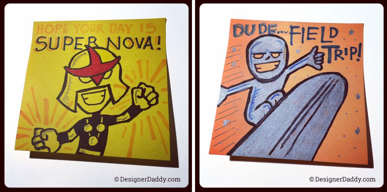 superlunchnotes - nova and silver surfer