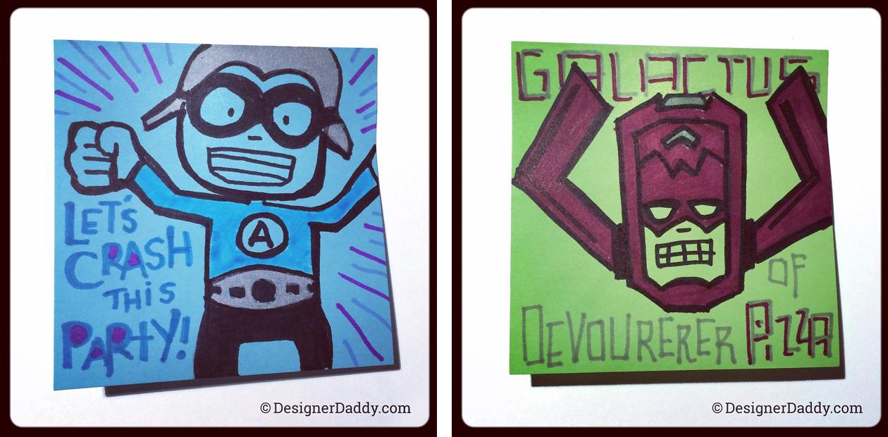 SuperLunchNotes Galactus & Crash - Designer Daddy