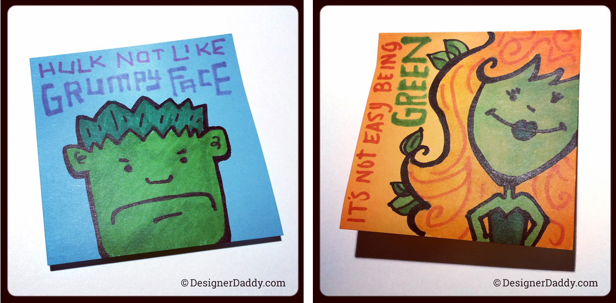SuperLunchNotes Hulk & Poison Ivy - Designer Daddy