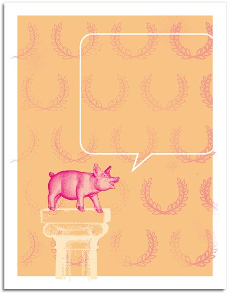 Designer Daddy - Pig Notecards - Pig Latin