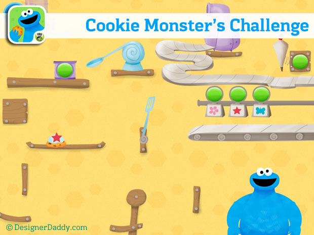 Designer Daddy apps - Cookie Monster's Challenge