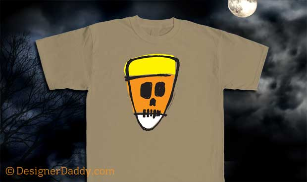 Candy Corn Crafts for Halloween - Candy Corn Skull of Doom tee