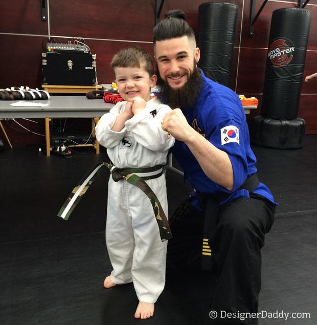 dad brag taekwondo