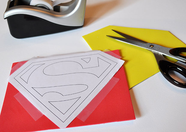 DIY Superman Father's Day Card