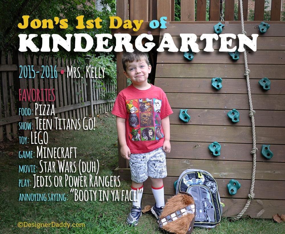 First Day of School - Kindergarten