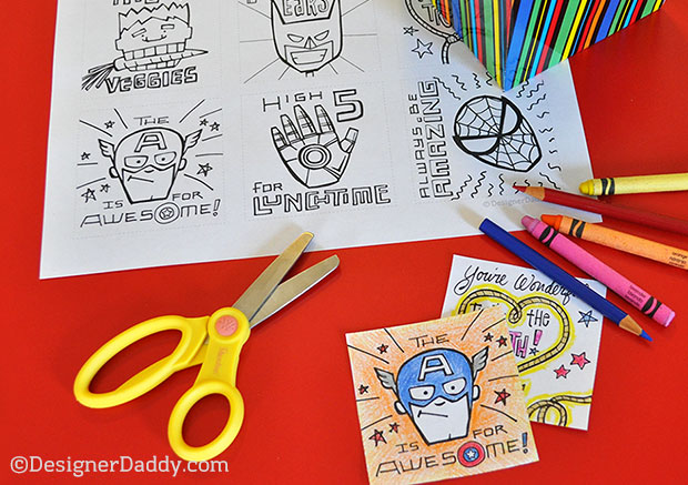 Superhero Lunch Notes for Back to School