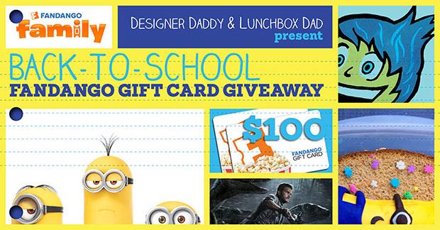 Back-to-school Fandango movie card giveaway