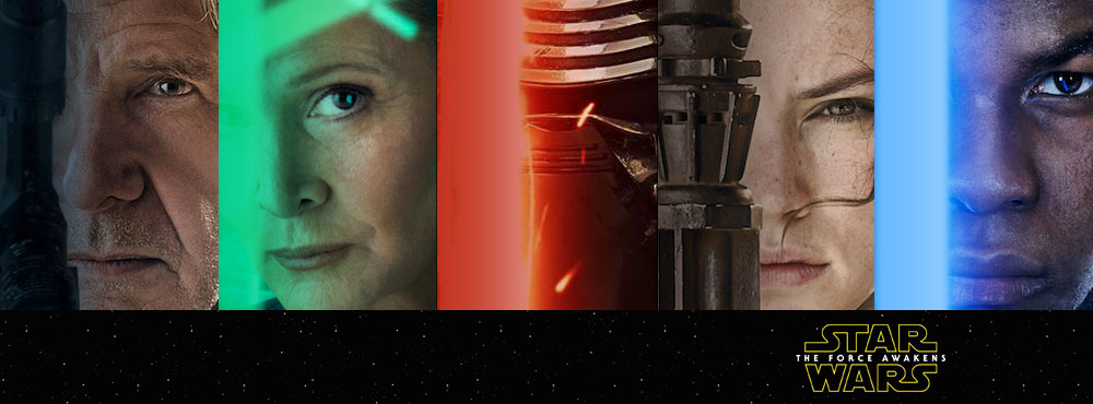 Star Wars The Force Awakens Character Posters collage