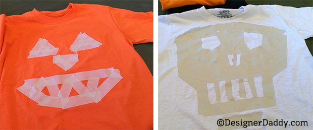 Easy DIY Halloween t-shirt