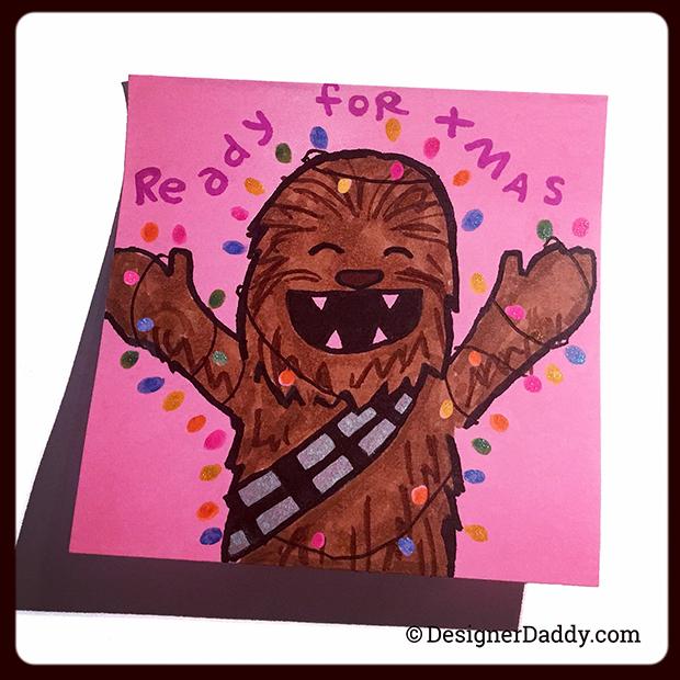 December SuperLunchNotes Chewbacca