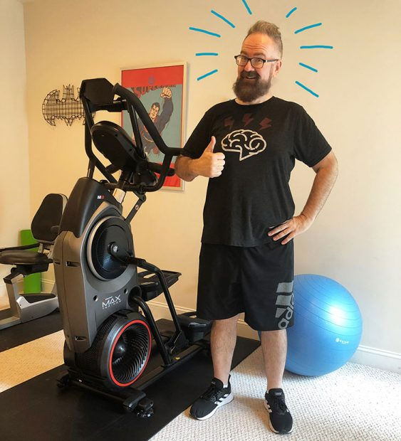 Me, BEFORE working on the Bowflex Max 8 Trainer