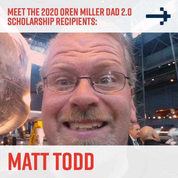 Matt Todd - Dad 2 Summit scholarship recipient