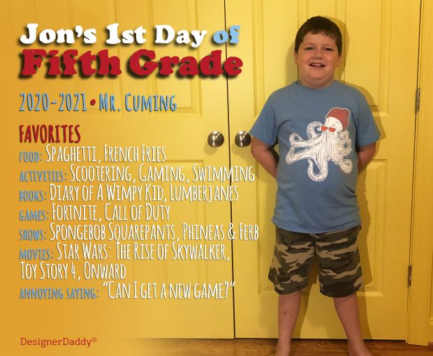 First Day of School: Fifth Grade