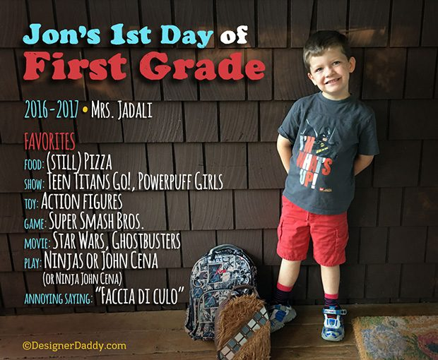 First Day of School - First Grade