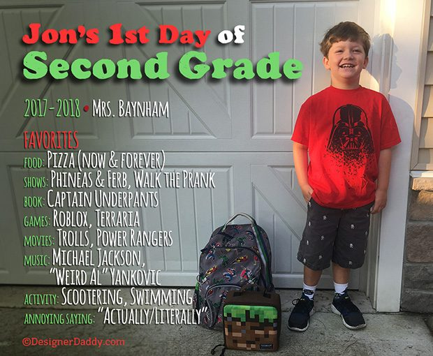 First Day of School - Second Grade