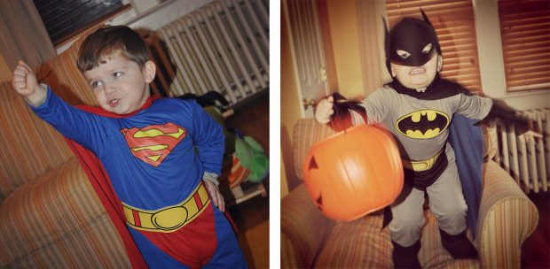Halloween costumes Superman Batman