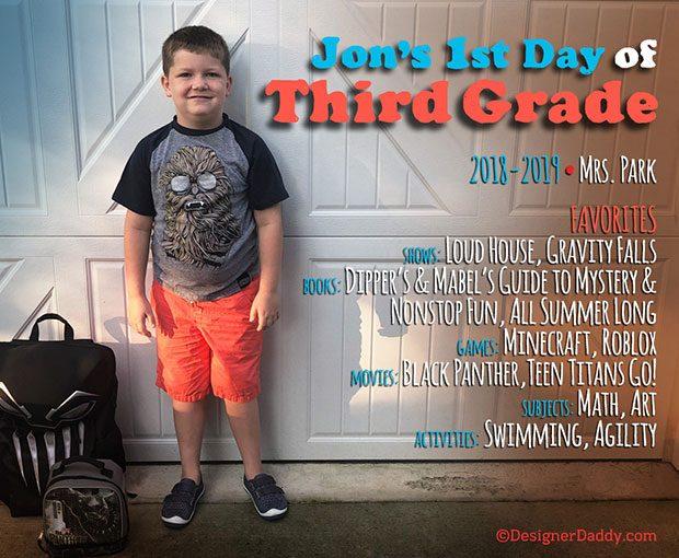 First Day of School - Third Grade