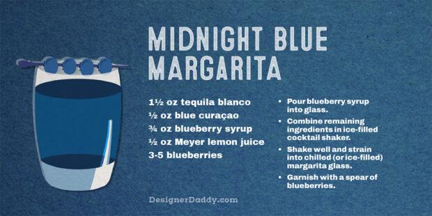 Summer Cocktails - Midnight Blue Margarita