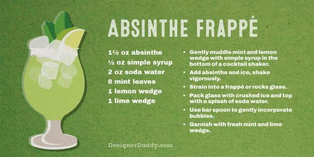 Summer Cocktails -- Absinthe Frappé